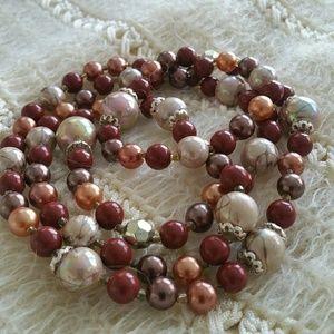 Jewelry - Vtg. Handmade Bead Necklace